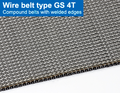 Wire belt type GS 4T. Compound belts with welded edges